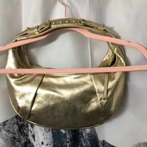 Kenneth Cole Bags - Kenneth Cole Gold Metallic Leather Shoulder Bag